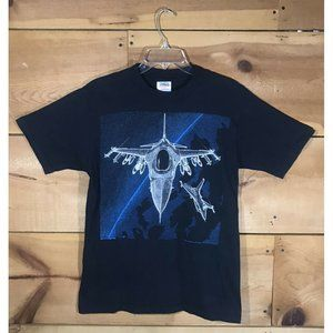 Vintage 1988 Blackbird F-16 Tactical Fighter Sz L